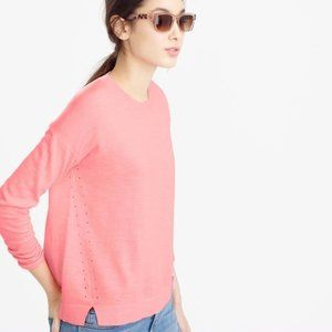 J. Crew Lightweight Wool Tunic Sweater in Pink